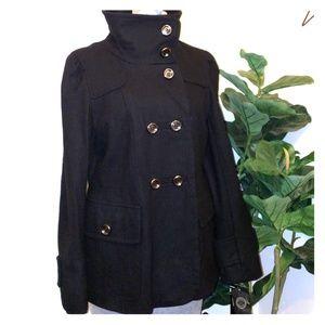 1 Madison Black Wool Blend Jacket